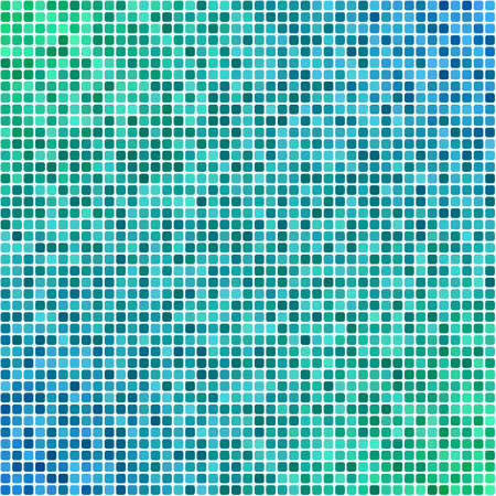mosaic tiles: Green and blue pixel mosaic tiles background