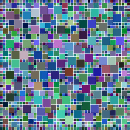 mosaic: Multicolor square mosaic background Illustration