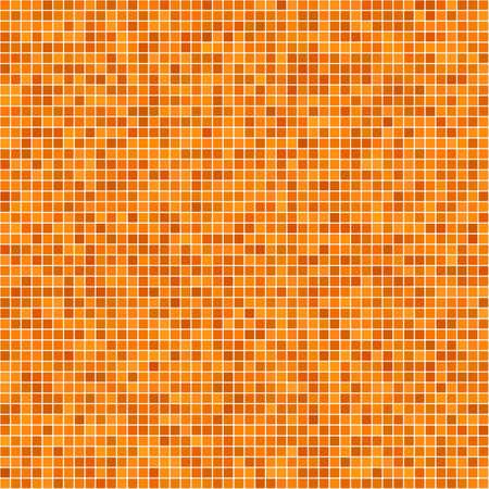 Orange pixel mosaic background