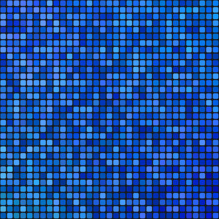 casing: Abstract blue pixel mosaic tiled pattern background Illustration