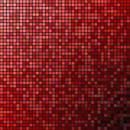 rojo oscuro: Pixel rojo dise�o del mosaico Fondo oscuro abstracto Vectores