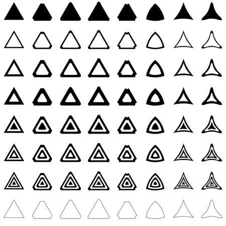 Triangle shape polygon vector icon template set