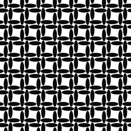 ellipse: Seamless black and white ellipse pattern design