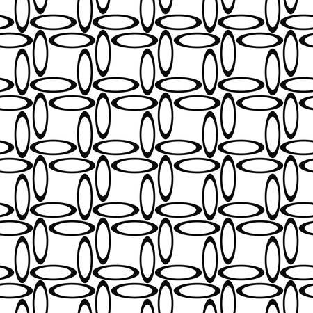 noir et blanc: Black white seamless ellipse pattern design background