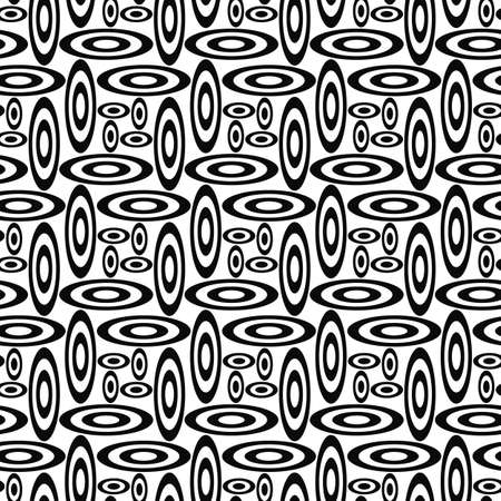 fleck: Repeating black and white ellipse shape pattern