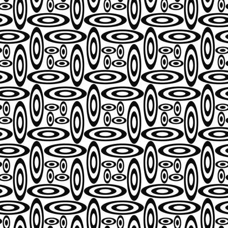 elipse: Repitiendo el patrón de forma de elipse blanco y negro Vectores