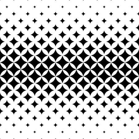 원활한 곡선 스타 패턴 디자인 벡터 배경