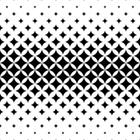 Seamless curved star pattern design vector background