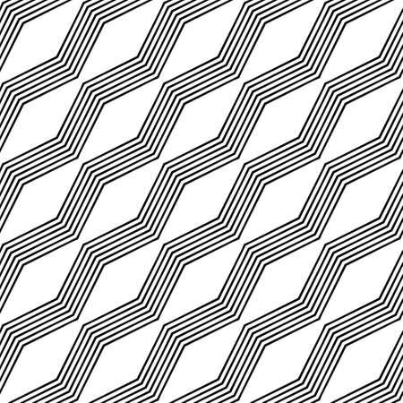 zigzag: Monochrome seamless angular zigzag line pattern design