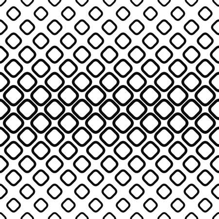 cobblestone: Horizontal monochrome seamless pattern from rounded squares