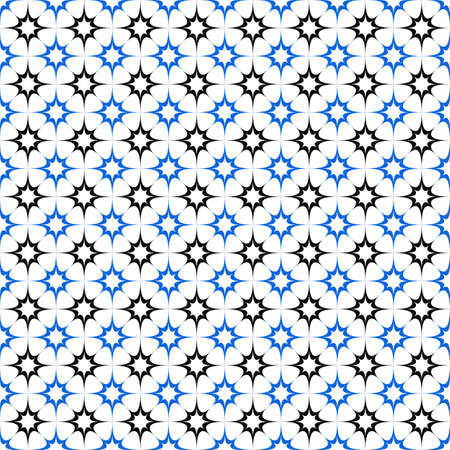 black and blue: Black blue seamless curved star pattern wallpaper