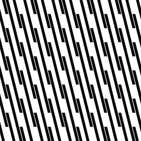 angular: Seamless monochrome angular line pattern vector background Illustration