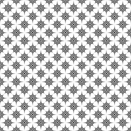 prickle: Seamless monochrome curved star pattern design background