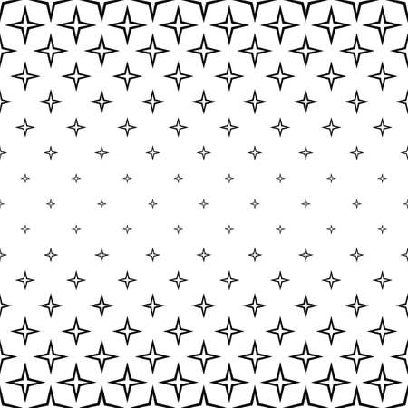 repeating: Repeating monochrome star cross pattern design background Illustration
