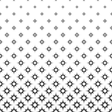 prickle: Seamless monochrome curved star vector pattern design Illustration
