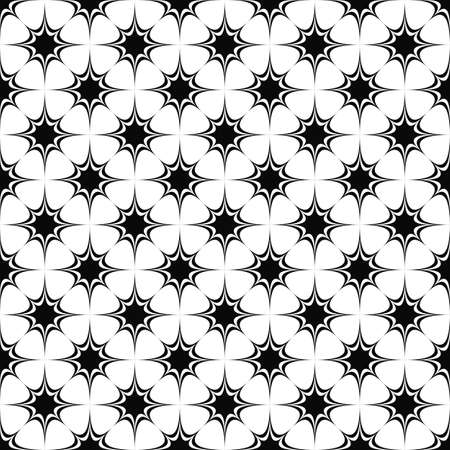 prickle: Seamless black and white star pattern design