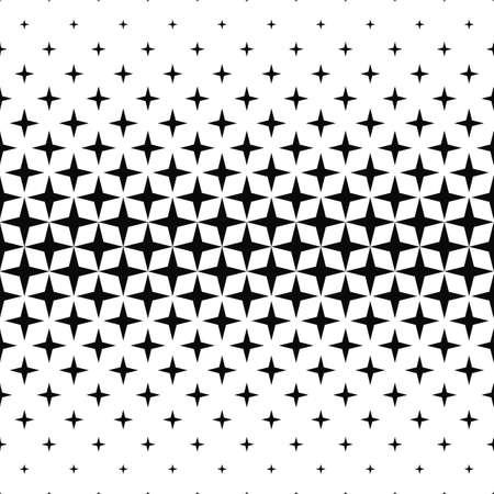 Seamless monochrome geometric pattern design vector background
