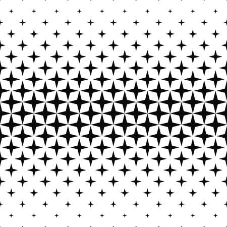 Seamless monochrome geometric pattern design vector background