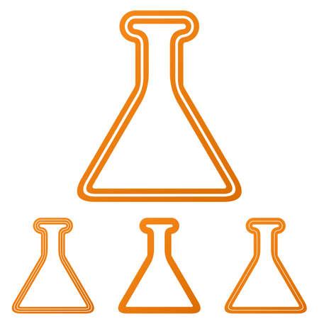 alchemy: Orange line alchemy   icon design set