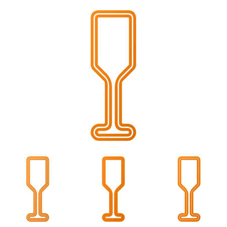 champagne orange: Orange line bar logo icon design set Illustration