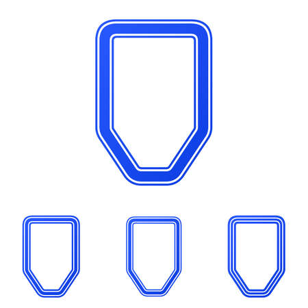 defense: Blue line defense logo icon design set