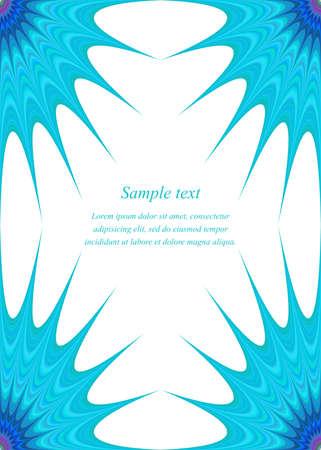 star ornament: Blue star ornament page corner design template