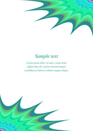 in curved: Curved fractal star page corner design template
