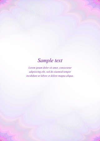 Purple page template design for brochure, presentation