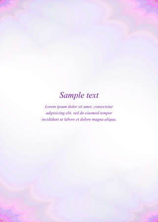 Purple page template design for brochure, presentation