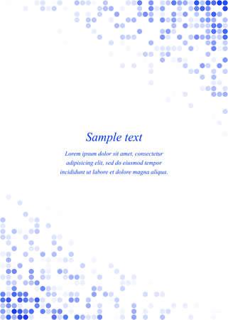 Blue circle mosaic page corner design template