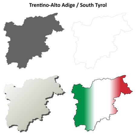 Cartina Muta Del Trentino Alto Adige.Vettoriale La Mappa Politica D Italia Con Le Varie Regioni In Cui Si Evidenzia Trentino Alto Adige Sdtirol Image 11198075