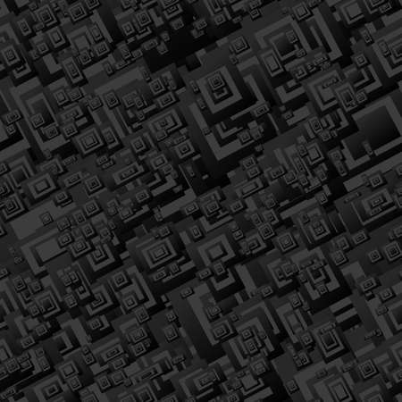 grey abstract background: Black seamless rectangle pattern design vector background