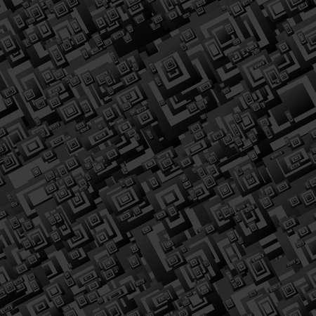 rectangle: Black seamless rectangle pattern design vector background