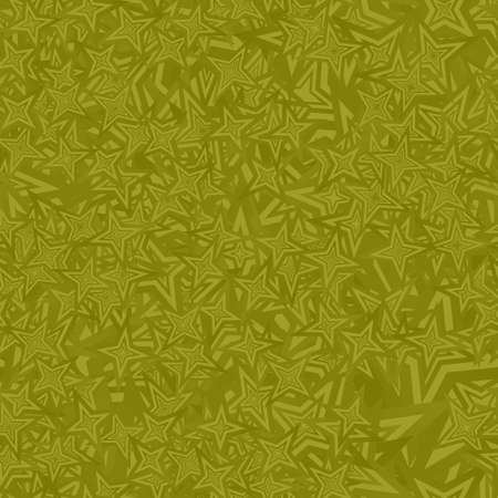 star pattern: Olive seamless star pattern design vector background