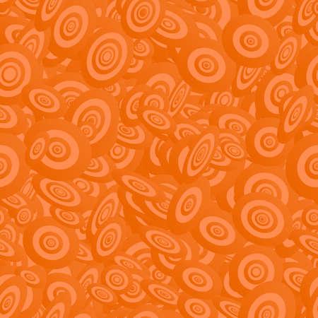 ellipse: Orange seamless ellipse pattern design vector background