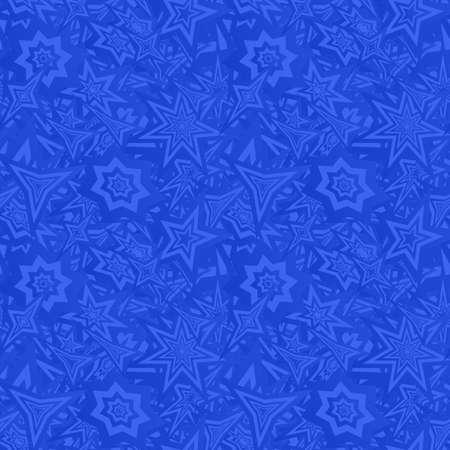 star background: Blue seamless star pattern design vector background Illustration