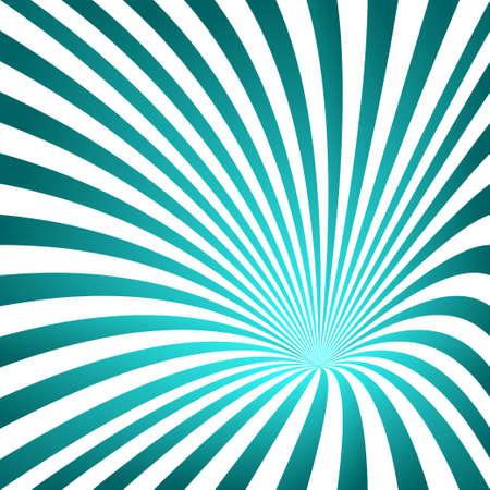 color 3d: Cyan color 3D striped funnel design background Illustration