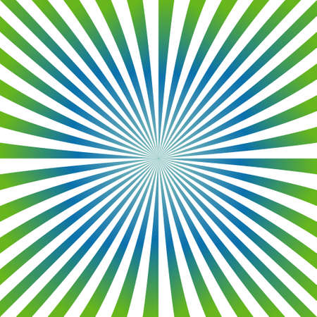 blue ray: Green and blue ray burst design background Illustration
