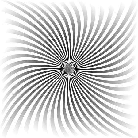 Grey gradient spiral ray vector background design Illusztráció