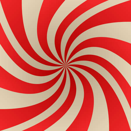 whirling: Red and beige abstract twirling rays background Illustration