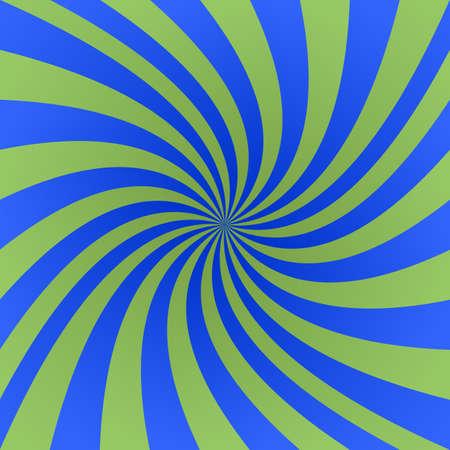 blue spiral: Green and blue spiral design background vector