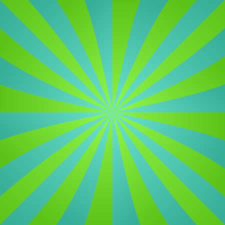 blue ray: Green and blue retro style ray design background