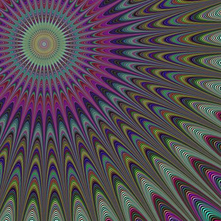 desert sun: Multicolor abstract desert sun fractal design background