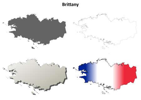 Bretagne vierge vecteur détaillée fond de carte jeu Banque d'images - 47820342