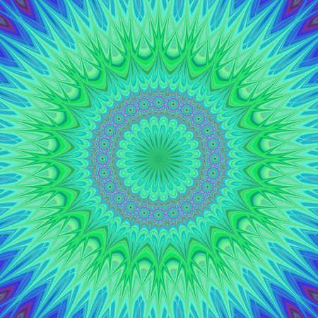 ice crystal: Cold colored ice crystal mandala fractal background Illustration