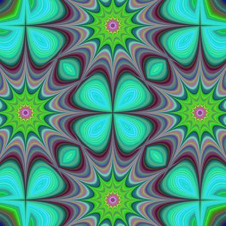 quadrant: Star fractal design background - digital fractal art Illustration