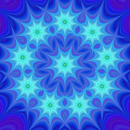 estrella azul: Blue star design background - digital fractal art