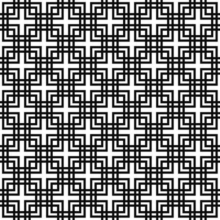 square pattern: Repeating abstract monochrome line square pattern design