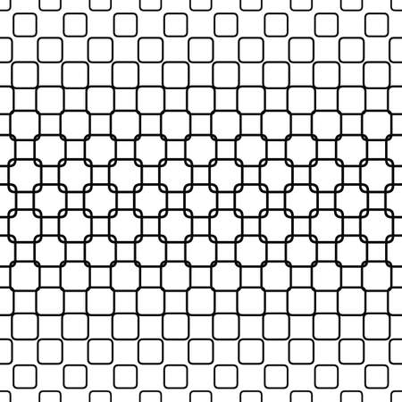 rounded: Repeating horizontal monochrome rounded square pattern design Illustration