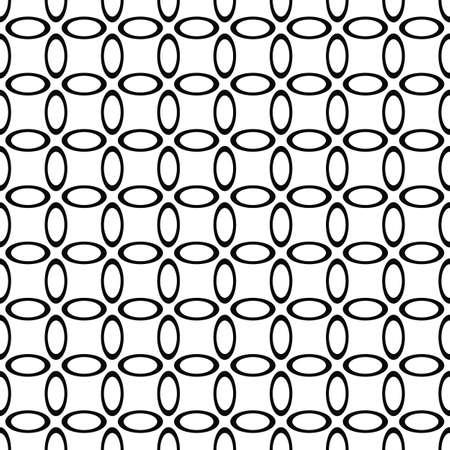 elipse: blanco y negro sin fisuras patr�n de papel tapiz elipse dise�o del vector Vectores
